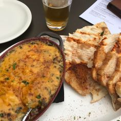 This crab dip was to die for! Weekends are for carbs and cheese, right?