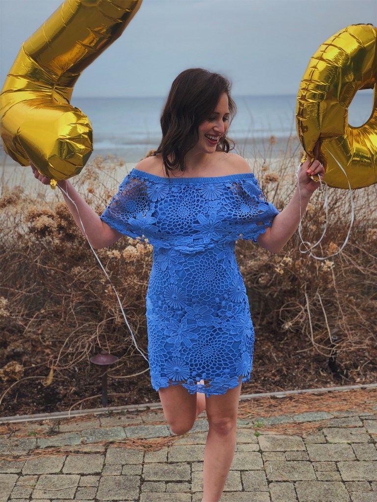 friday the 13th, kelseylynnb, blue lace dress, nordstrom, 28th birthday, birthday dress, birthday ideas, birthday balloons, number balloons