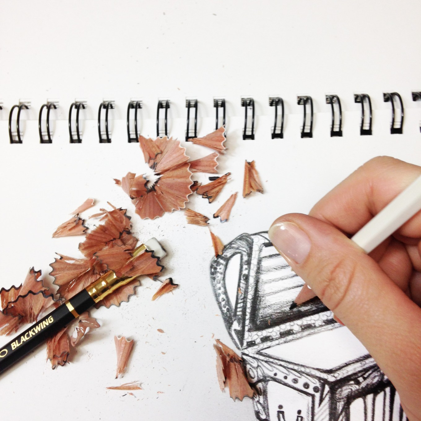 Blackwing Pencil 1 by Kelsey Montague Art