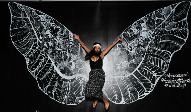 Kelsey Montague Art wings jumping