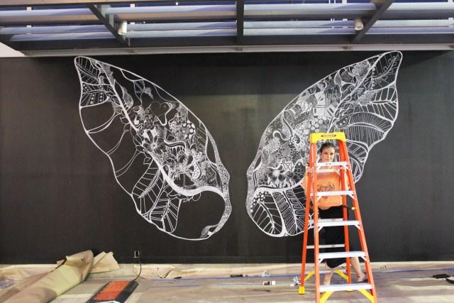 Kelsey Montague Art wings through ladder