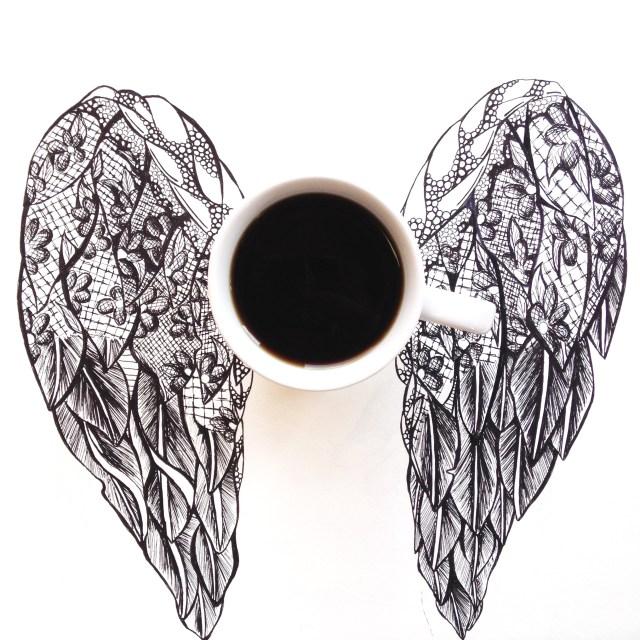 Coffee wings by Kelsey Montague