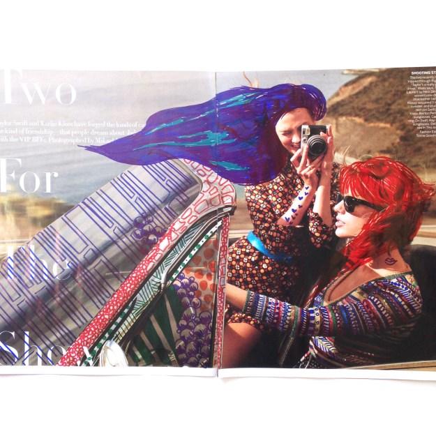 Taylor Swift & Karlie Kloss Vogue Magazine art by Kelsey Montague Art 4
