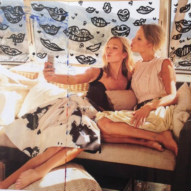 Taylor Swift & Karlie Kloss Vogue Magazine art by Kelsey Montague Art 7