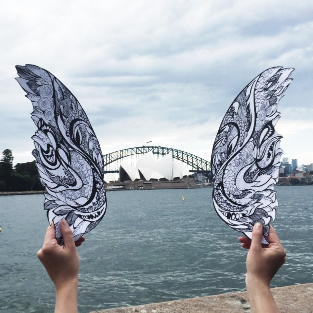 Opera House with wings by Kelsey Montague Art
