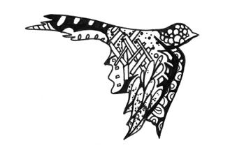 Kelsey Montague's bird drawing