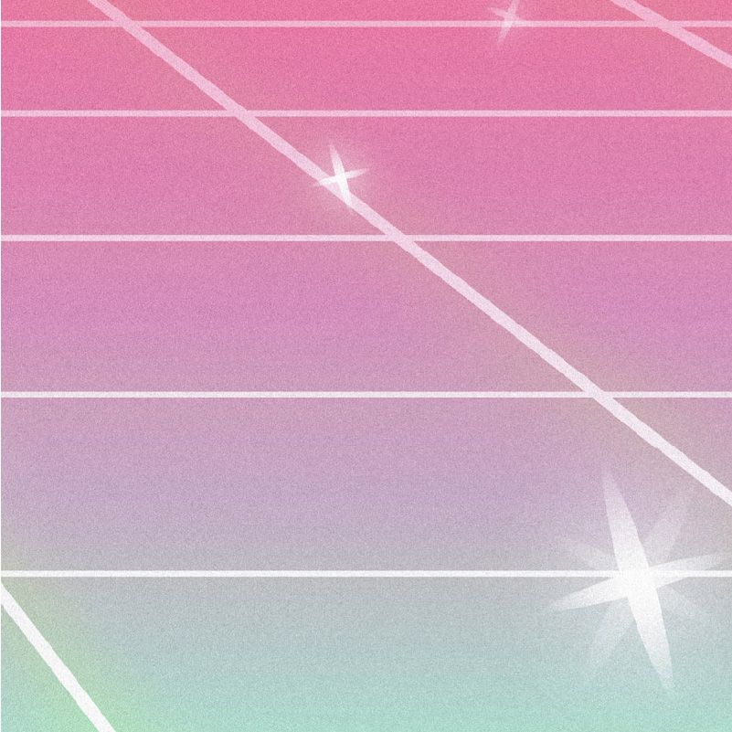 Kawaii Sparkle 80s Grid