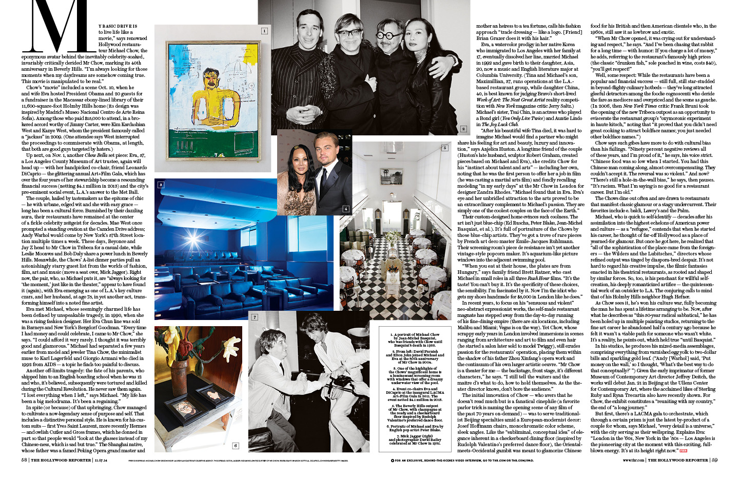 Michael and Eva Chow / The Hollywood Reporter / 11.7.14 / kelsey stefanson / art direction + graphic design / yeskelsey.com