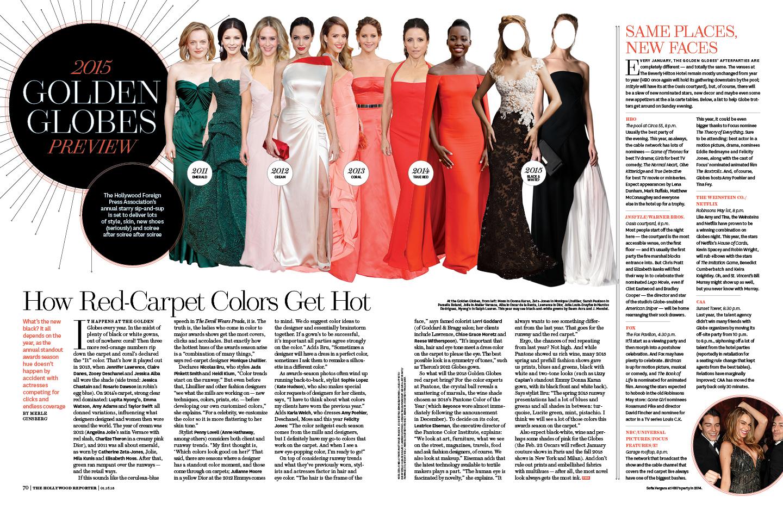 Golden Globes 2015 / The Hollywood Reporter / 1.16.15 / kelsey stefanson / art direction + graphic design / yeskelsey.com