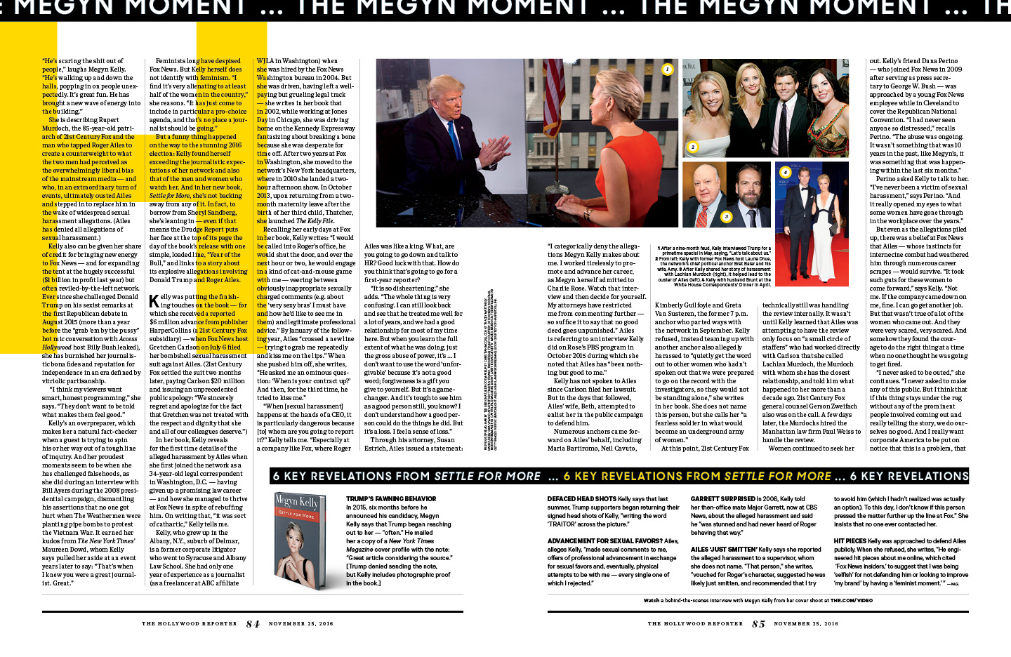 The Megyn Moment / The Hollywood Reporter / 11.25.16 / kelsey stefanson / art direction + graphic design / yeskelsey.com