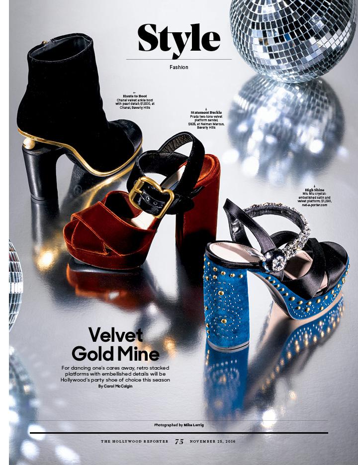 Velvet Gold Mine / The Hollywood Reporter / 11.25.16 / kelsey stefanson / art direction + graphic design / yeskelsey.com