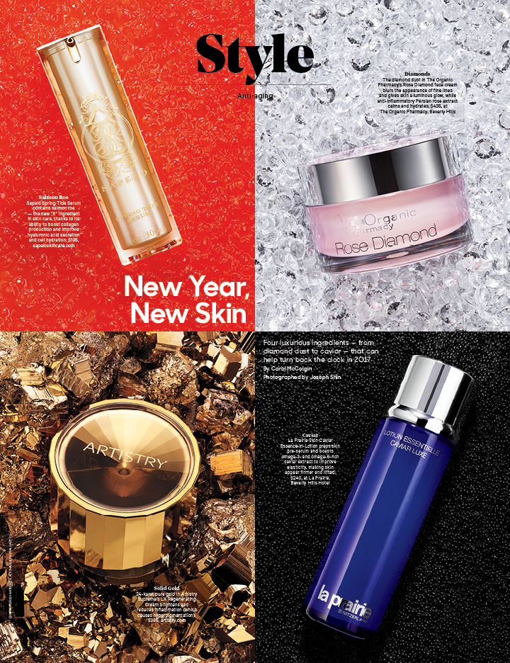 New Year, New Skin / The Hollywood Reporter / 1.20.17 / kelsey stefanson / art direction + graphic design / yeskelsey.com