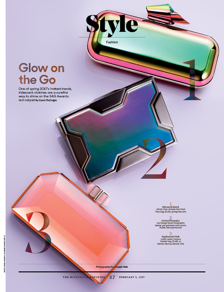 Glow on the Go / The Hollywood Reporter / 2.3.17 / kelsey stefanson / art direction + graphic design / yeskelsey.com