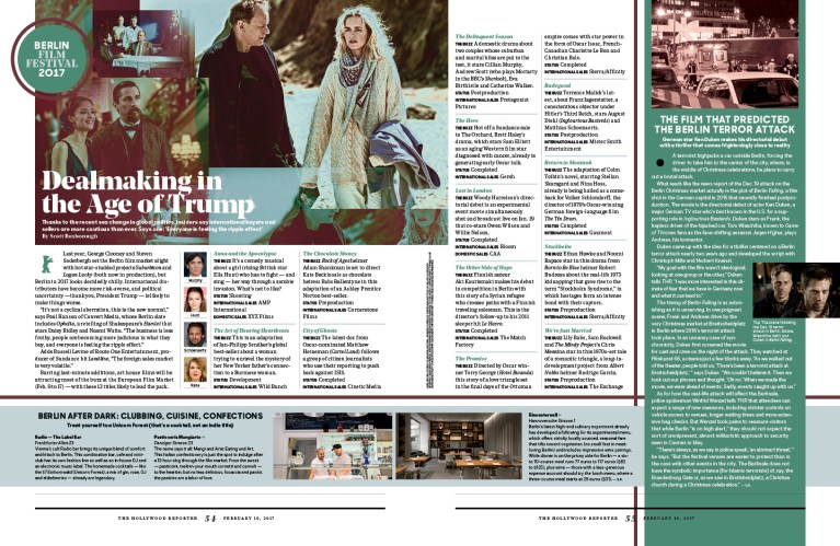 Berlinale Preview / The Hollywood Reporter / 2.10.17 / kelsey stefanson / art direction + graphic design / yeskelsey.com