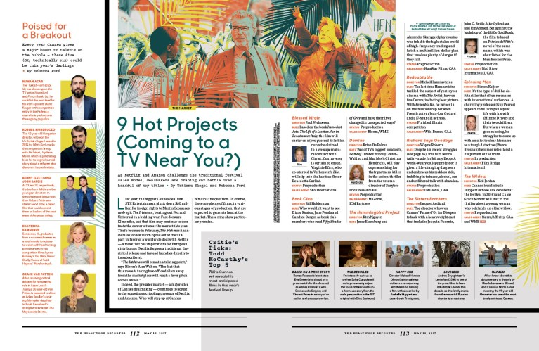 9 Hot Projects / The Hollywood Reporter / 5.10.17 / kelsey stefanson / art direction + graphic design / yeskelsey.com