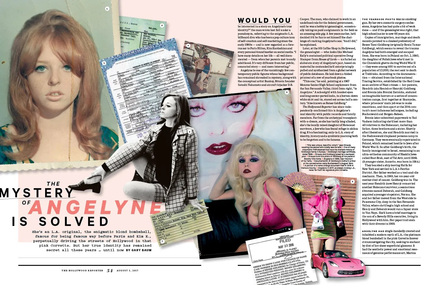 The Mystery of Angelyne is Solved / The Hollywood Reporter / 8.2.17 / kelsey stefanson / art direction + graphic design / yeskelsey.com