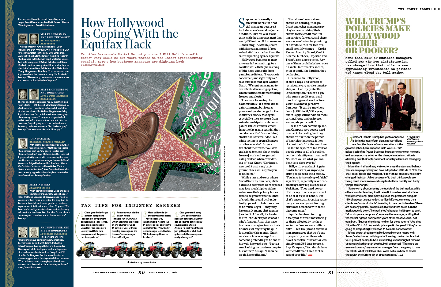 What Hollywood Earns Now / The Hollywood Reporter / 9.27.17 / kelsey stefanson / art direction + graphic design / yeskelsey.com