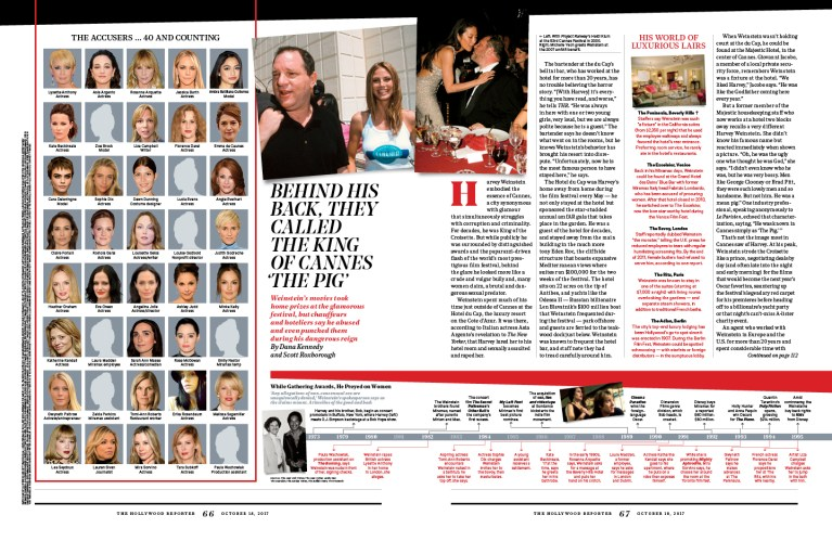 The Shame of Hollywood / The Hollywood Reporter / 10.18.17 / kelsey stefanson / art direction + graphic design / yeskelsey.com