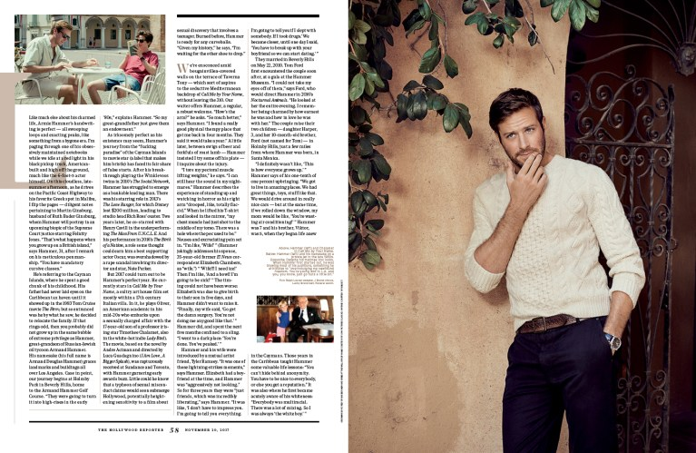 Armie Hammer / The Hollywood Reporter / 11.20.17 / kelsey stefanson / art direction + graphic design / yeskelsey.com