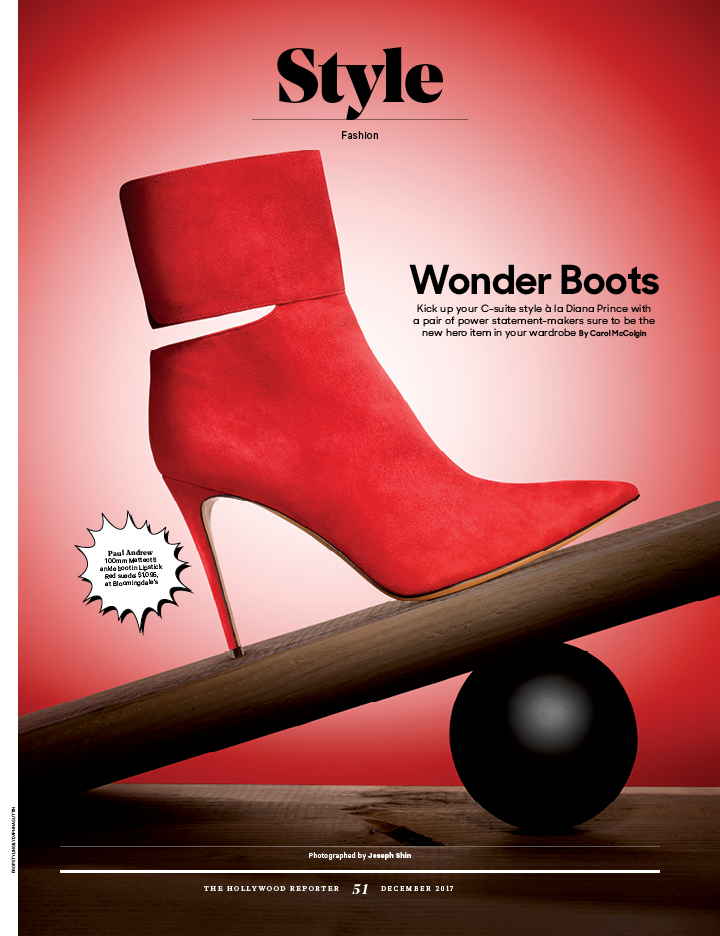 Wonder Boots / The Hollywood Reporter / 12.5.17 / kelsey stefanson / art direction + graphic design / yeskelsey.com