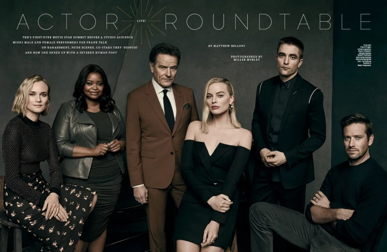 Live Actor Roundtable / The Hollywood Reporter / 12.18.17 / kelsey stefanson / art direction + graphic design / yeskelsey.com