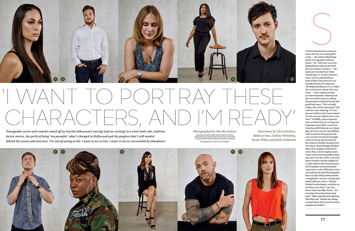 Transgender Actor Discussion / The Hollywood Reporter / 7.18.18 / kelsey stefanson / art direction + graphic design / yeskelsey.com