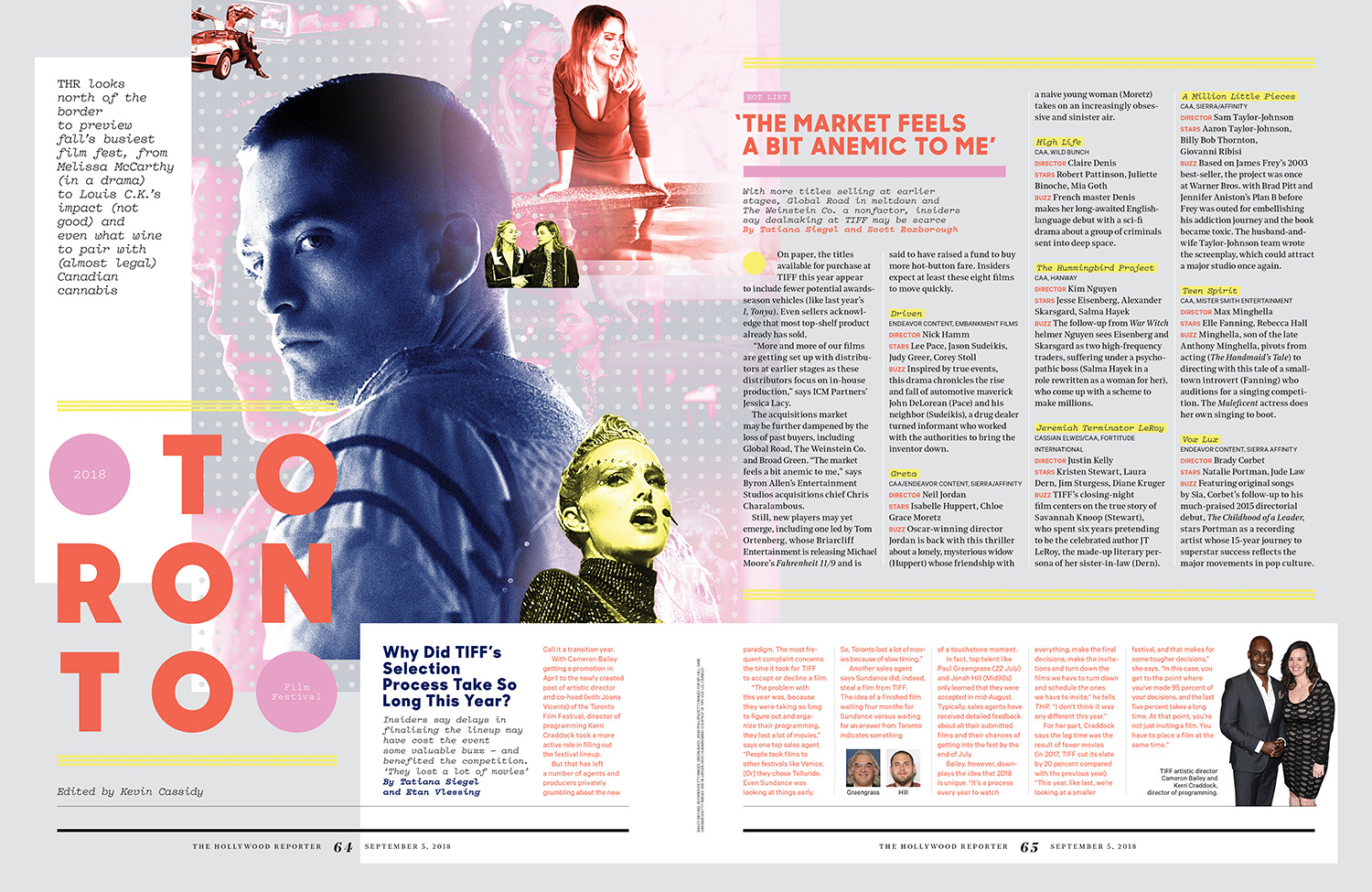 2018 Toronto Film Festival Preview / The Hollywood Reporter / 9.5.18 / kelsey stefanson / art direction + graphic design / yeskelsey.com