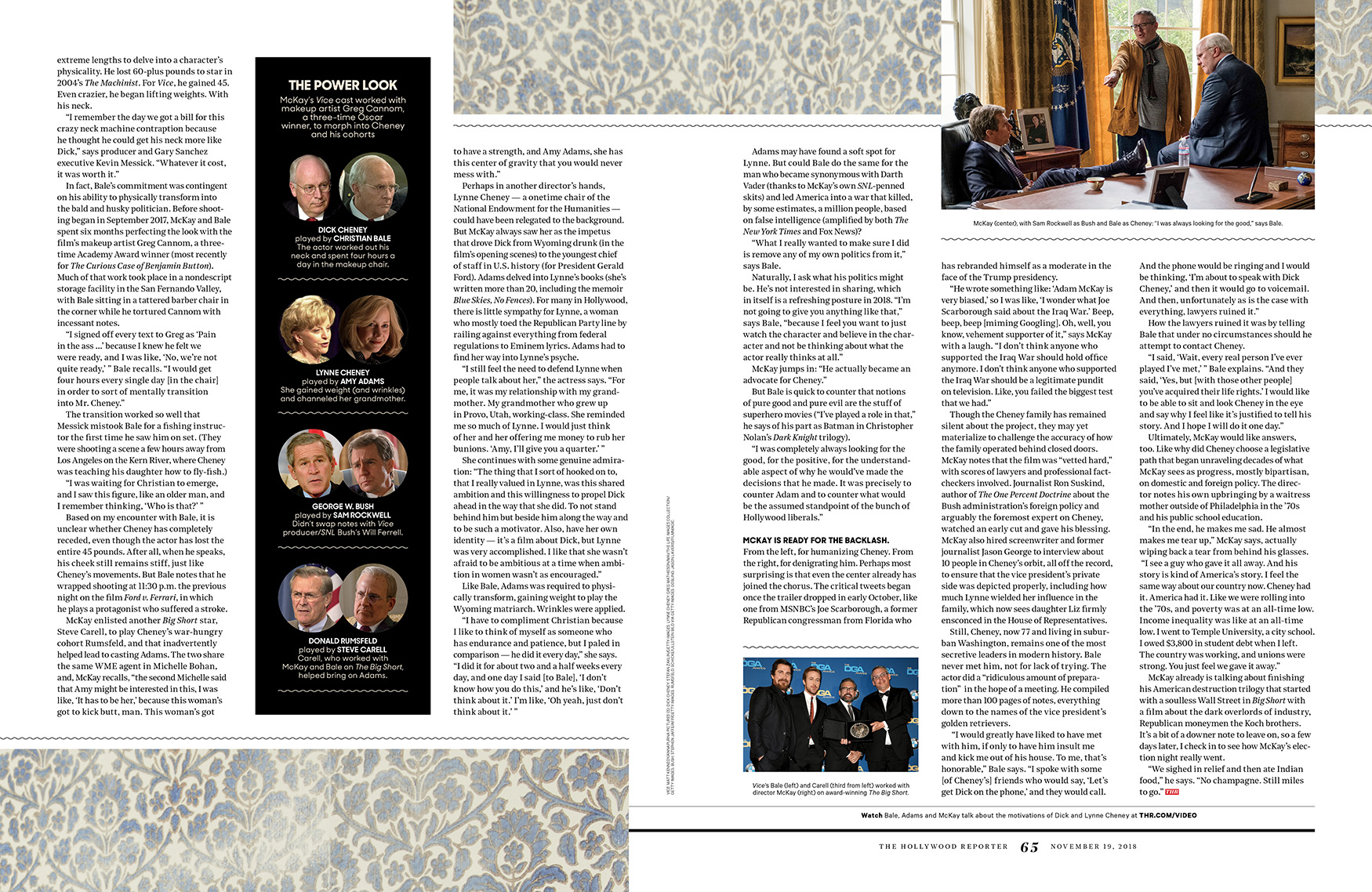 Dick Cheney. The Movie. / The Hollywood Reporter / 11.19.18 / kelsey stefanson / art direction + graphic design / yeskelsey.com