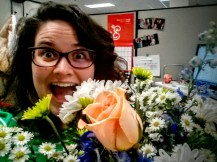 office flowers from my honey!