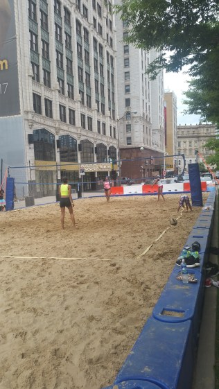 Sand Volleyball Downtown Detroit