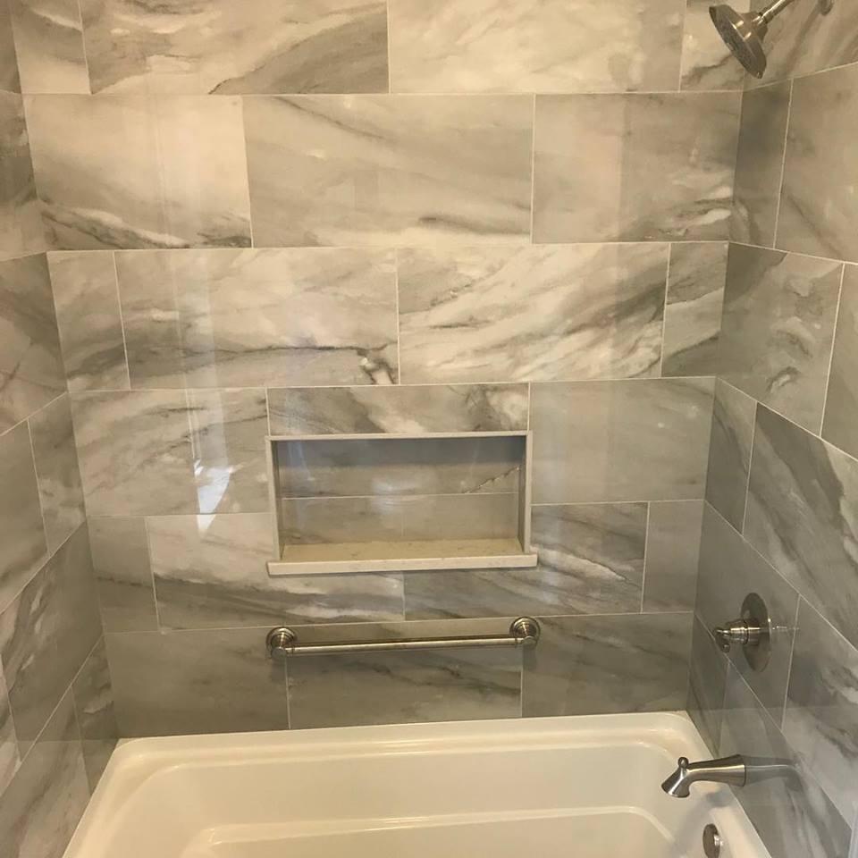 tile installation countertops cabinet