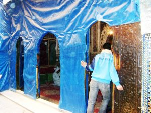 Pintu luar makam Moulay Idriss II, Fes - Maroko