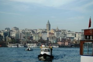 Berlayar di Bhosporus Turki