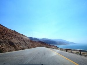 Driving around dead sea, jordan
