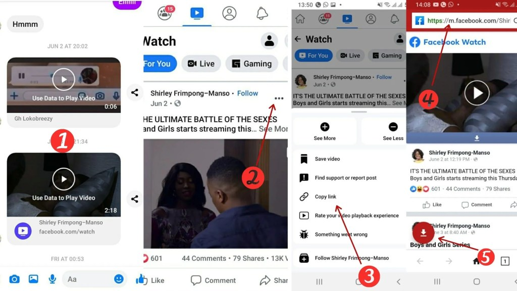 save videos from facebook messenger 2021