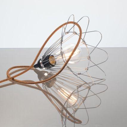 kelvin et lumen luminaires applique baladeuse déco abat-jour métal cordon cuivre pailleté ampoule LED Edison chambre entrée salon véranda