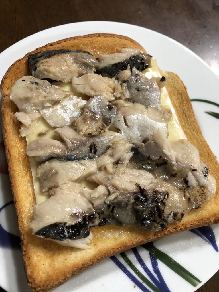 チーズサバコンフィトースト