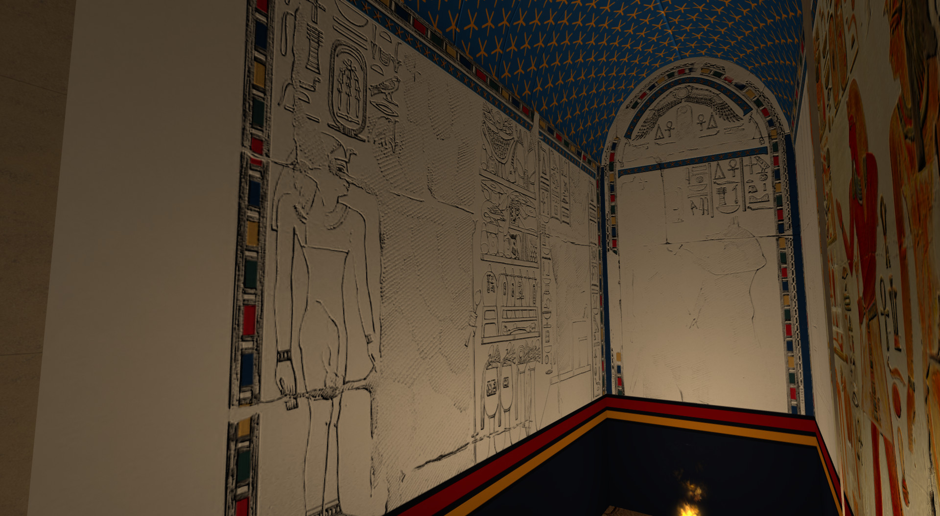 Upper Anubis Chapel (west and south wall of the niche)