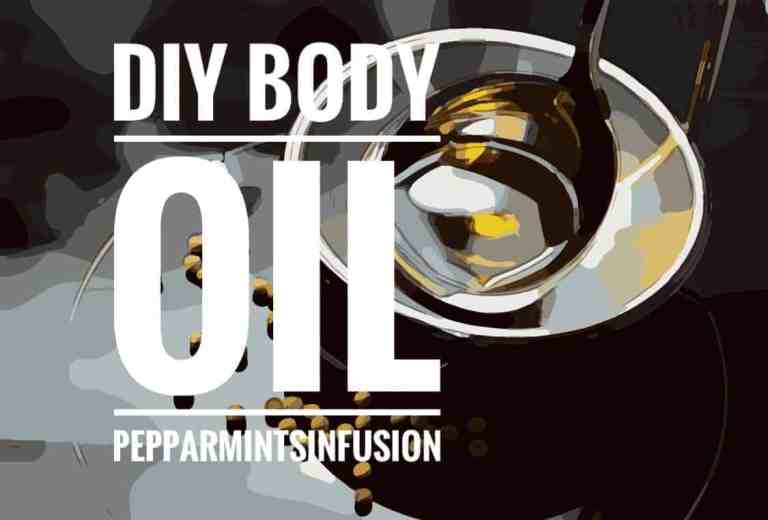 Body oil med pepparmintsinfusion