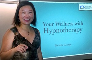Kemila speaking at Wellness Show 2015