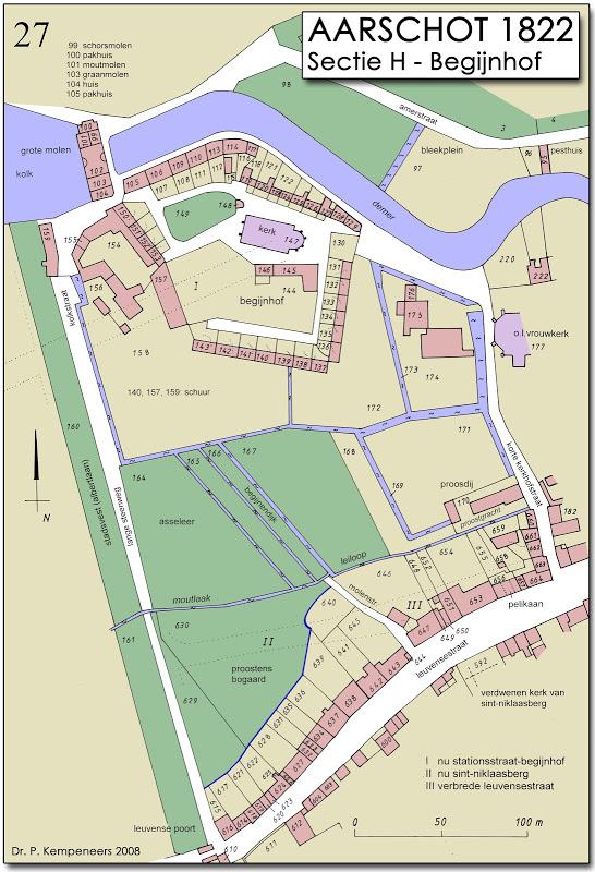 Aarschot in 1822 - Begijnhof