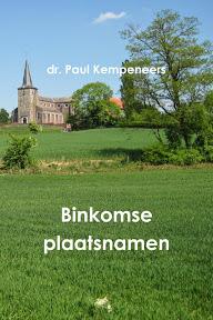 Paul Kempeneers - Binkomse Plaatsnamen Cover