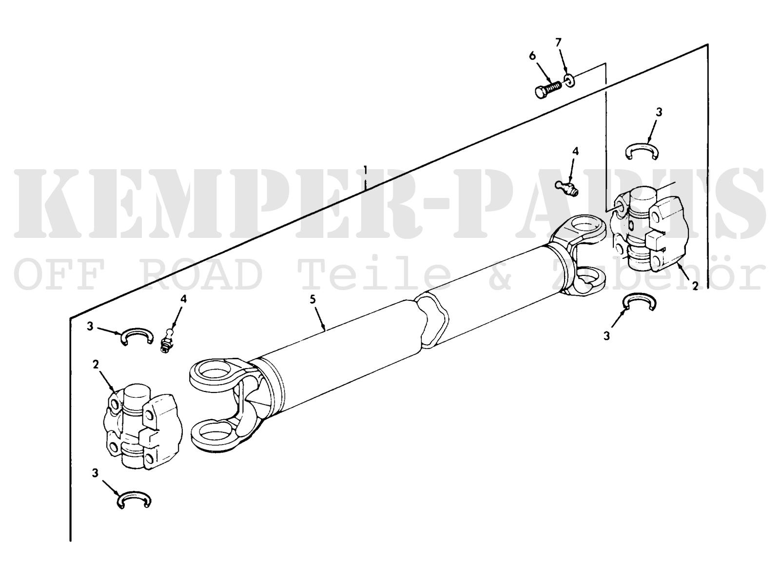 Ford Mutt M151 U Joint Propeller Shaft
