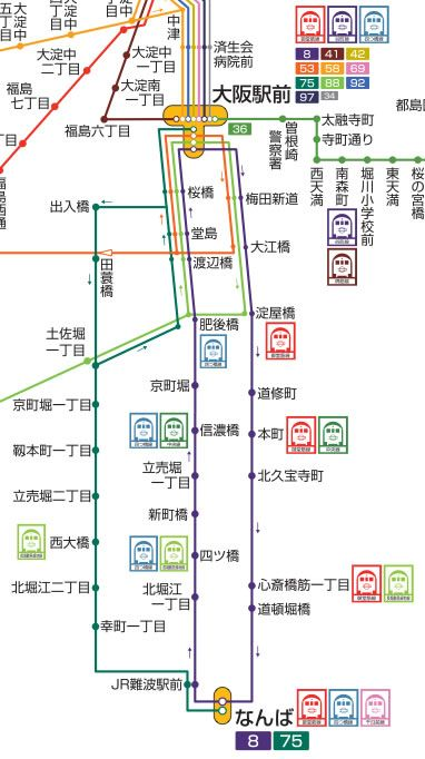 8号75号路線図
