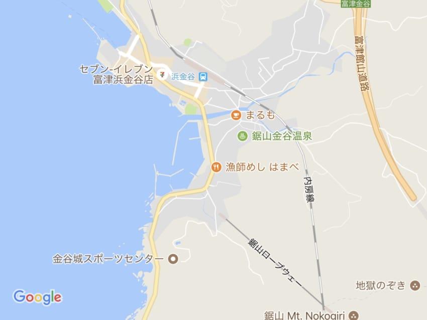 金谷の地図