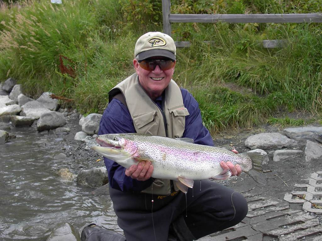 enormous rainbow trout caught on upper kenai