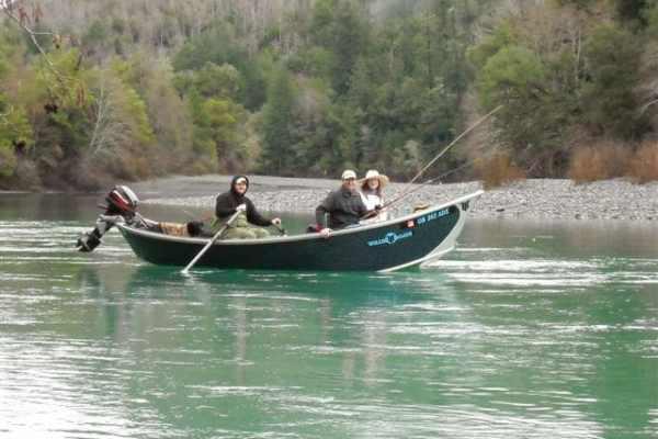 Drift boat used for Alaska King Salmon Fishing on the Kenai River