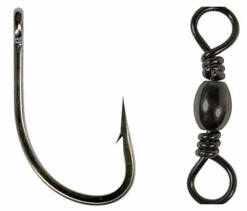 Hook and swivel used for Alaska king salmon fishing