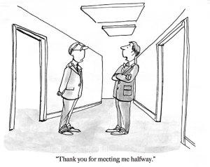 Cartoon on compromise