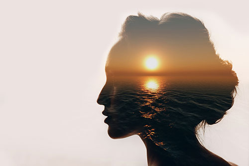 Woman with a peaceful mind